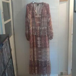 A prairie style long dress